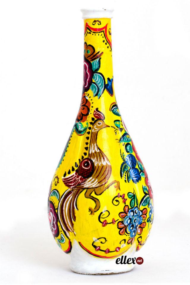 Декорирование бутылок красками