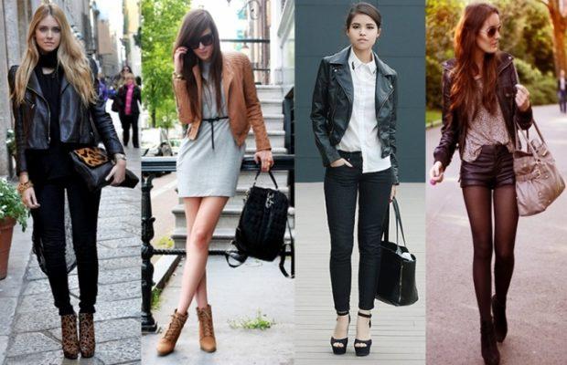 С чем носить стильные кожаные куртки