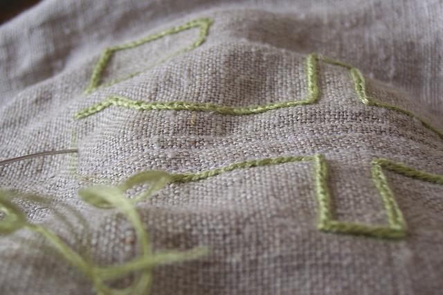 Как вышивать на льне